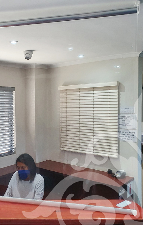 anti-viral screens to protect staff